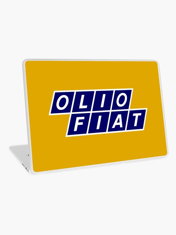 Olio Fiat Bluewhite Laptop Skin
