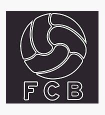 FCB Ball - White version Photographic Print