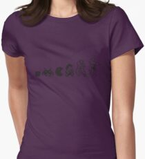Resolution Evolution - A Quick Video Game History Womens Fitted T-Shirt