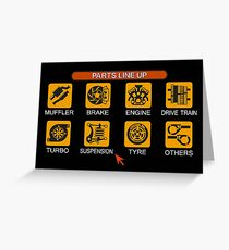 Gran Turismo 2 Tune Menu Greeting Card