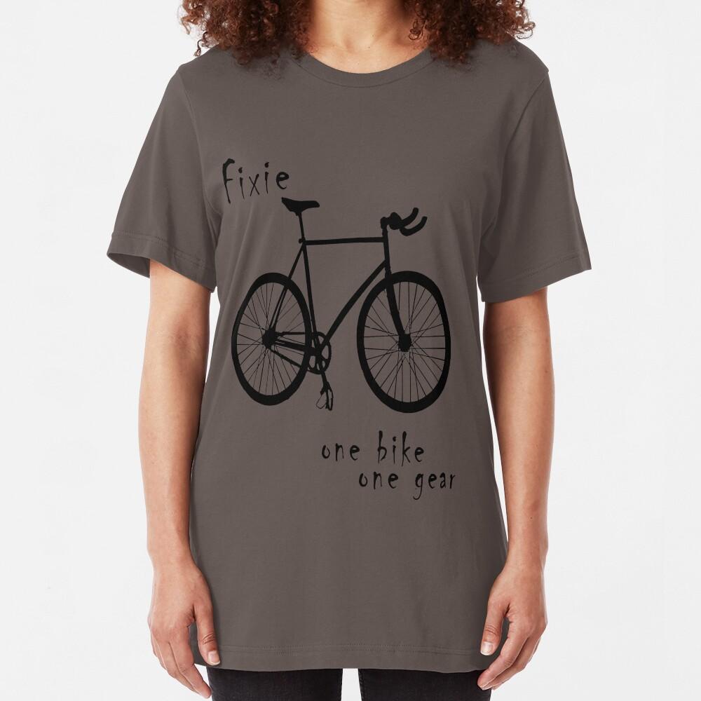 Fixie - one bike one gear Slim Fit T-Shirt