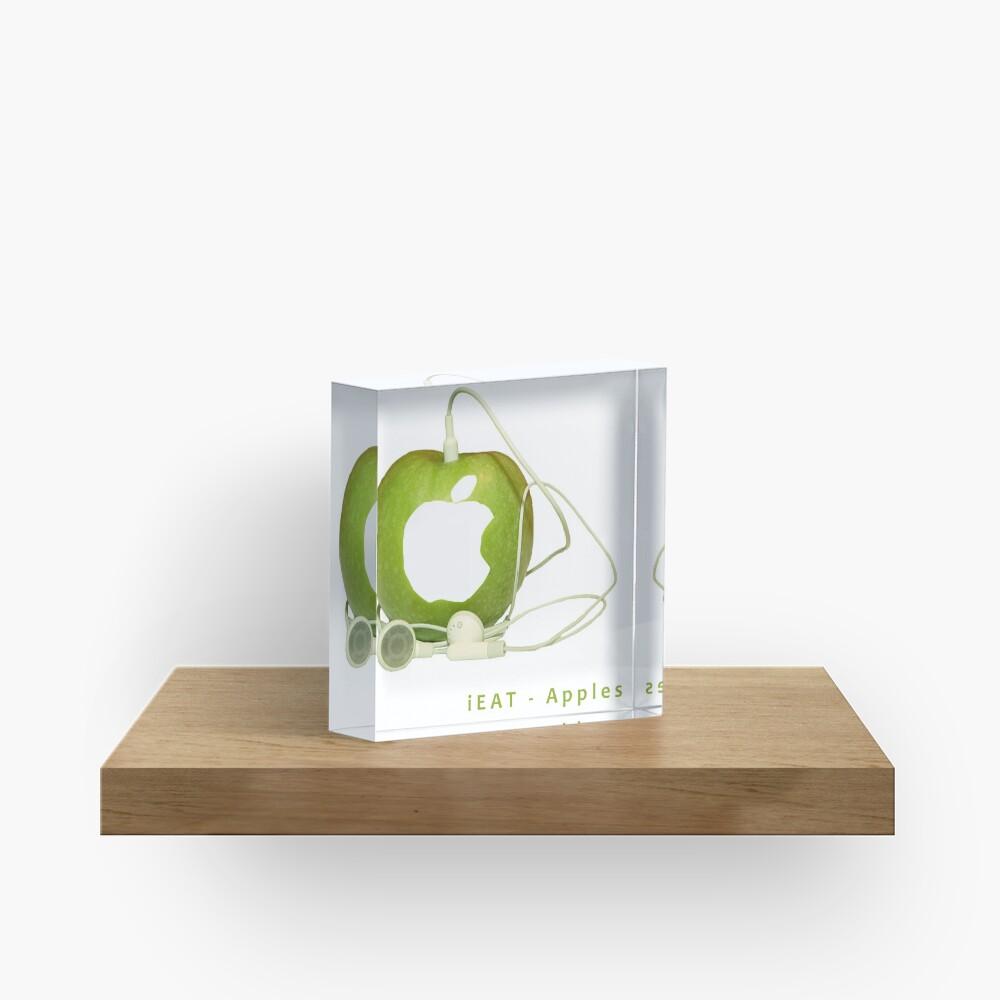 iEat - Apples Acrylic Block