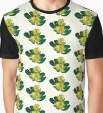 Two Yellow Water Lilies Graphic T-Shirt