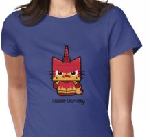 Hello (Angry) Unikitty Womens Fitted T-Shirt