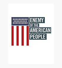 Enemy of the American People Photographic Print