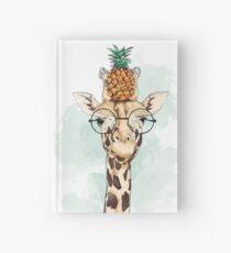 Pineapple Giraffe Hardcover Journal
