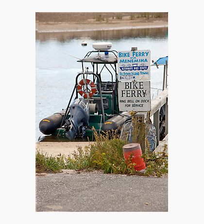 Bike Ferry Photographic Print