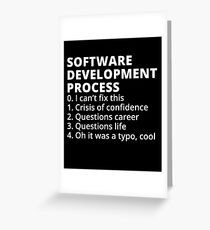Software Development Process Greeting Card