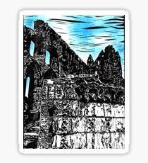 Whitby Abbey - detail Sticker