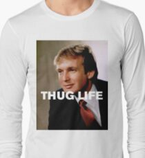 b1ae5d5b Throwback - Donald Trump Long Sleeve T-Shirt
