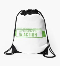 Students In Action Drawstring Bag