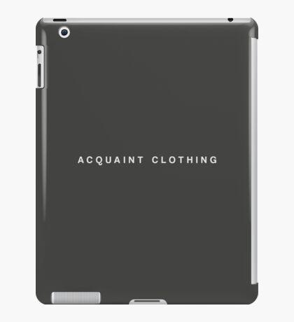 Acquaint Clothing Words - Light iPad Case/Skin
