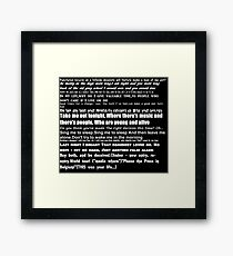 The Smiths Lyrics Framed Print