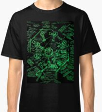 Dharma Stations Blast Door Map (Lost TV show) Classic T-Shirt