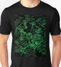Dharma Stations Blast Door Map (Lost TV show) Unisex T-Shirt