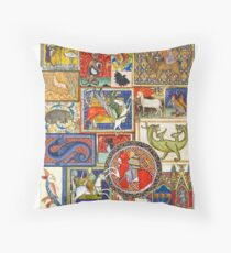 Medieval beasts Throw Pillow