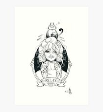 Inktober 2016 #15. Relax. Art Print