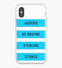 Manchester City - Aguero De Bruyne Sterling Stones (T-Shirt, Phone Case & more) iPhone Case