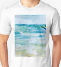 Miami Beach Watercolor #1 Unisex T-Shirt