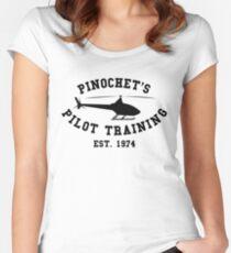 PINOCHET'S PILOT TRAINING BLACK Women's Fitted Scoop T-Shirt