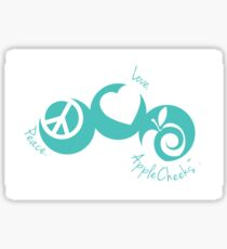 Peace. Love. AppleCheeks™. - Riptide Sticker