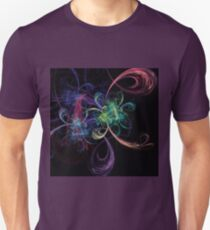 Abstract Art Space Flowers Unisex T-Shirt