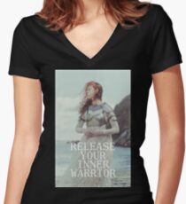 Release Your Inner Warrior Women's Fitted V-Neck T-Shirt