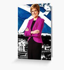 Saltire Sturgeon Greeting Card