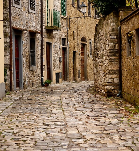 Down the Road in Montefioralle by Rae Tucker