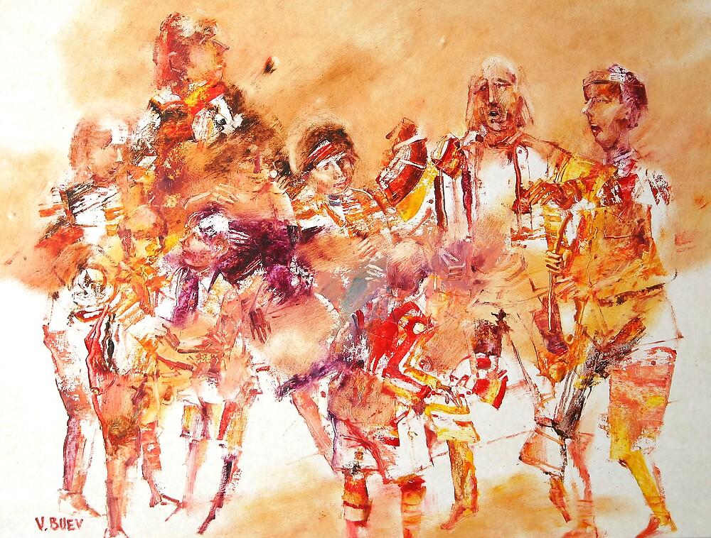 gipsy family by Valeriu Buev