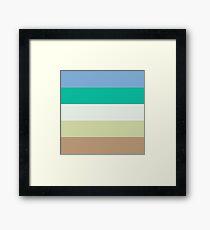 Vintage Color Art Print Stripes Framed Print
