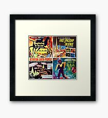 Sci-Fi Movie Poster Art Collection #3 Framed Print