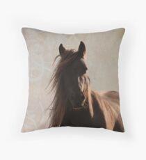 Sunlit fell pony Throw Pillow