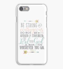 Joshua 1:9 Bible Verse iPhone Case/Skin