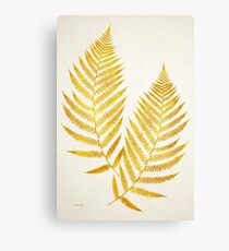 Gold Fern Leaf Canvas Print