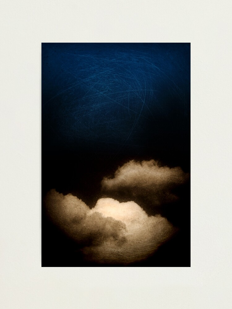 Alternate view of Clouds in a scratched darkness Photographic Print