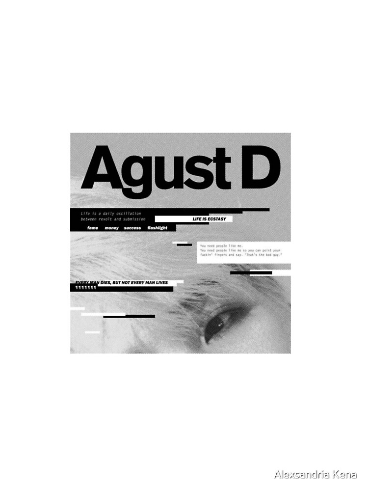 Agust D Graphic T Shirt By Alexxkpopstore Redbubble