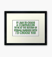 I'd Choose You (Slytherin Colours) Framed Print