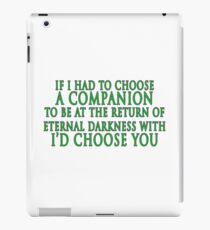 I'd Choose You (Slytherin Colours) iPad Case/Skin