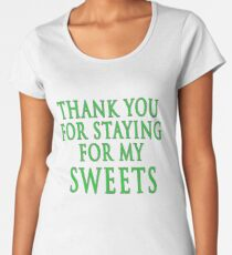 Thank You for Staying (Slytherin Colours) Women's Premium T-Shirt