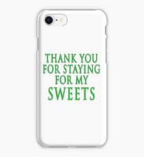 Thank You for Staying (Slytherin Colours) iPhone Case/Skin