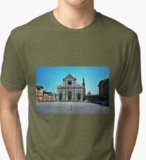 A child in Florence - Basilica of Santa Croce Tri-blend T-Shirt