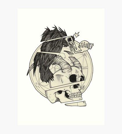 Corbeau & démon. Art Print