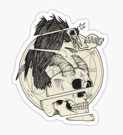 Corbeau & démon. Sticker