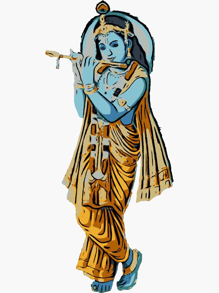 Krishna with Flute by YogiDevaDas