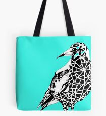 Minty Magpie Tote Bag