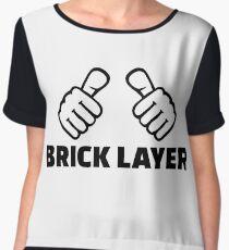 Brick layer Chiffon Top