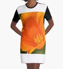 California Golden Poppy Graphic T-Shirt Dress
