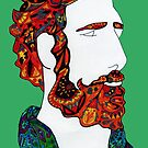 Red haired hipster dude by Lynn Excell