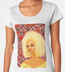 Queen Sanaya in Print  Women's Premium T-Shirt